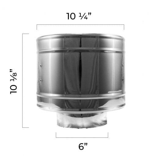 4 inch roof vent rain cap dimensions