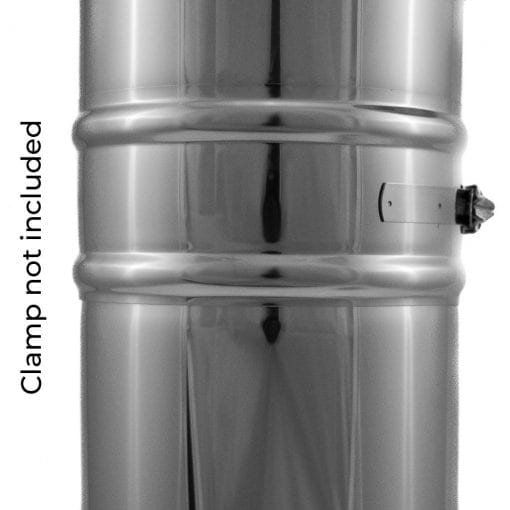 4 inch double-wall insulated class A pipe joined with clamp sold separately