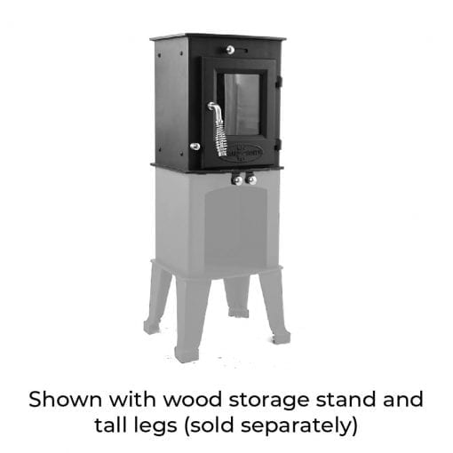 Dwarf 3kW Standard with Wood Storage Stand and Tall Legs