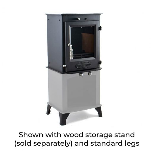 Dwarf 5kW with Wood Storage Stand and Standard Legs