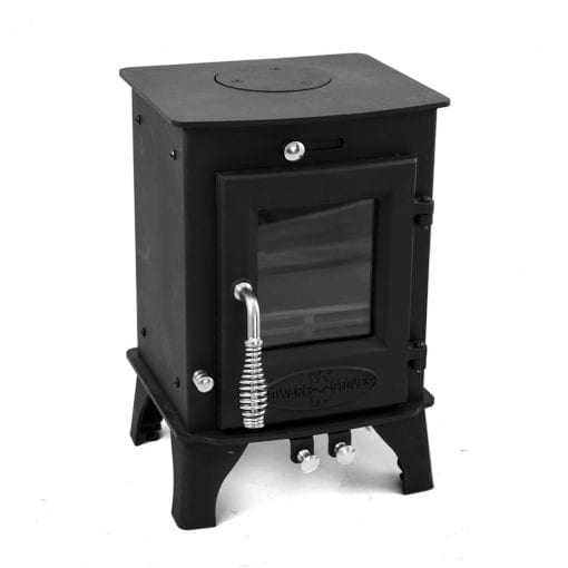 Dwarf 3kW Small Wood Stove Front Left Top