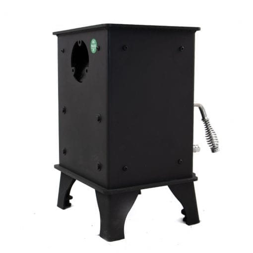 Dwarf 3kW Small Wood Stove Left Rear