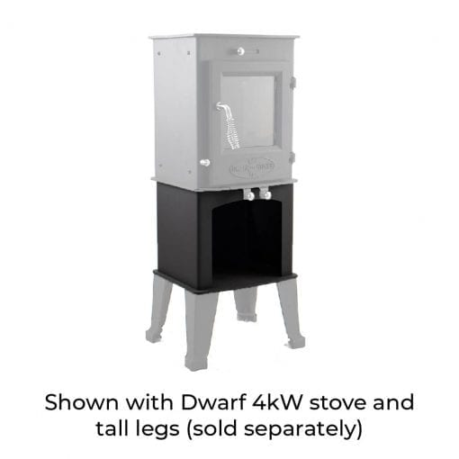 4kW Wood Storage Stand with Dwarf 4kW and Tall Legs
