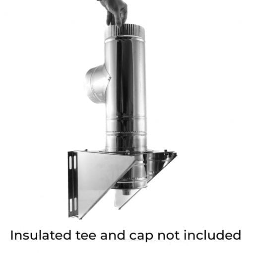 4 inch tee support bracket with insulated tee not included