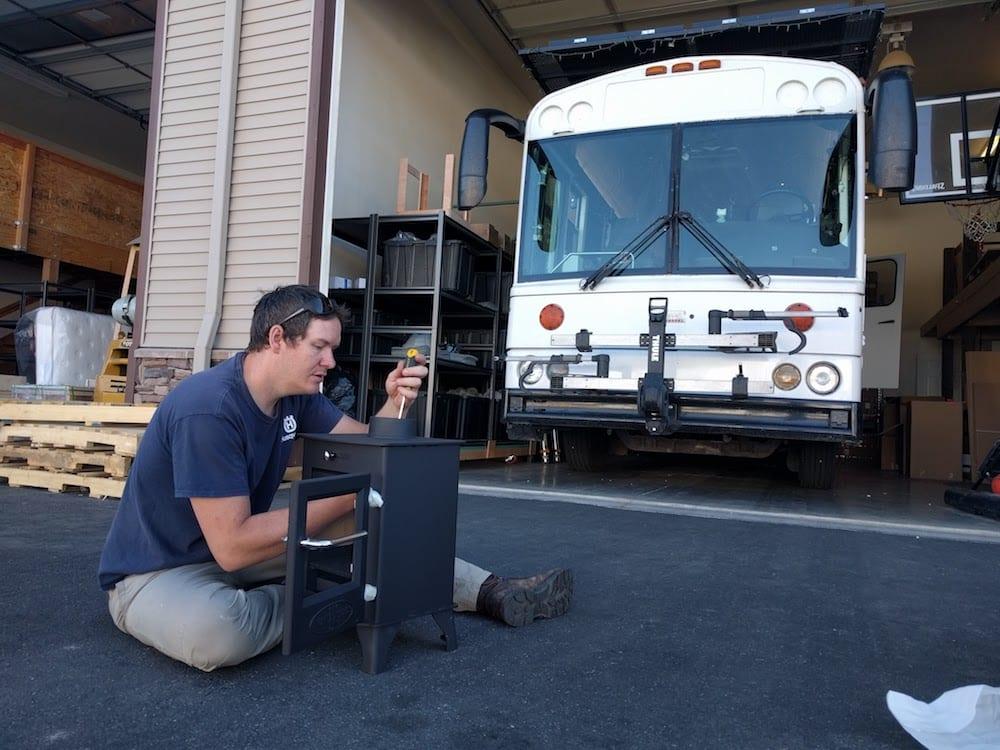 Zach getting his Dwarf 4kw ready for installation.