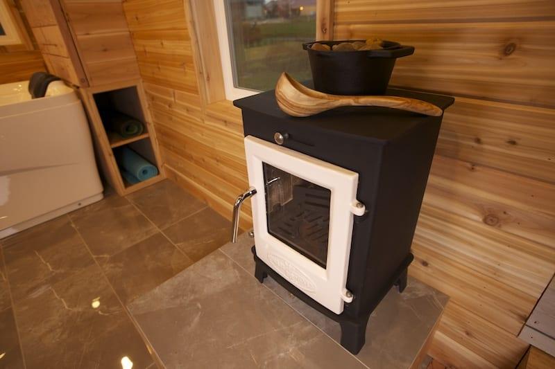 Dwarf 4kW providing dry sauna heat