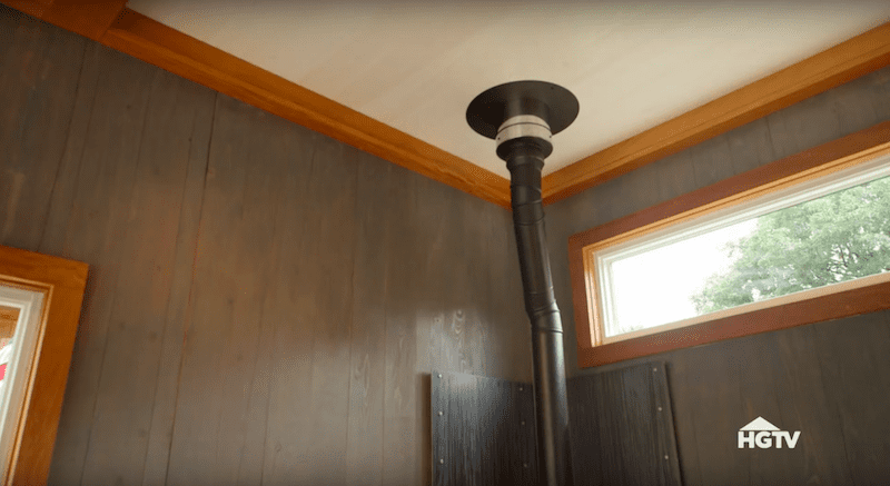 """4"""" wall exit flue pipe installation."""