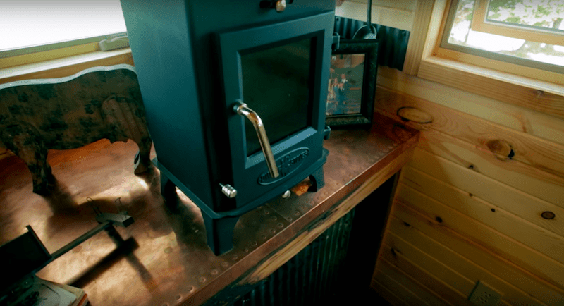 Dwarf 4kW wood stove on HGTV's Tiny House Big Living