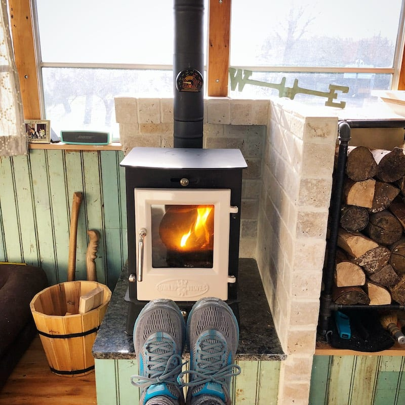 Ahh, warming feet by the fire. @wilddrivelife