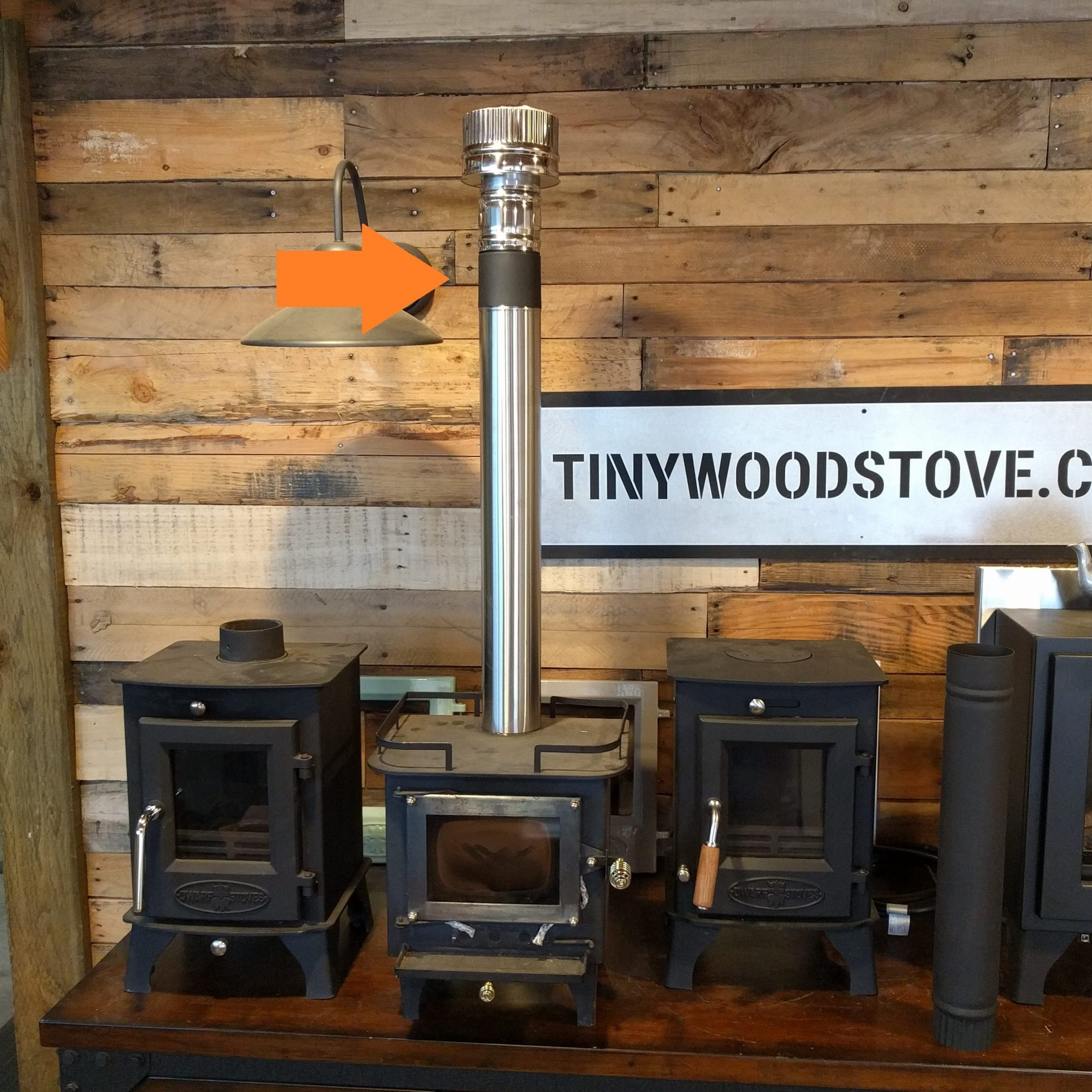 3 Cubic Mini Stove Adapter Tiny Wood Stove
