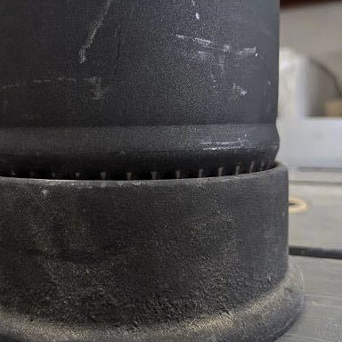 Pipe in Flue Flange with Gap